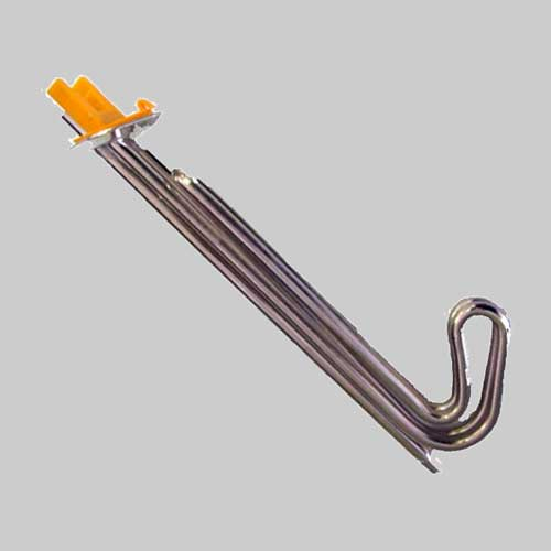 Immersion Electric Hot Water Heating Elements - Hockey stick Geyser element - angled flange